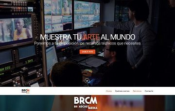Diseño web en wordpress de BRCM